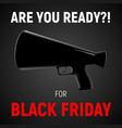 modern square poster for black friday sale vector image vector image