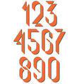 Numerals old style set numbers retro poster or vector image vector image