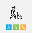 of hygiene symbol on janitor vector image vector image