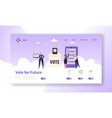 online e-voting registration concept landing page vector image vector image