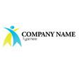partnership human logo vector image vector image