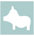 pig the white color icon vector image vector image
