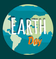 planet day concept earth with outlines vector image