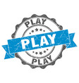 play stamp sign seal vector image vector image