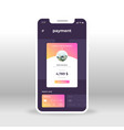 purple and pink online payment ui ux gui screen vector image vector image