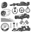 Racing Black Icon Set vector image