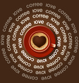 red cup of heart in Cappuccino vector image vector image