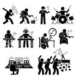 rock star musician music artist with musical vector image vector image