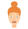 Scared woman with open mouth vector image