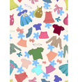 seamless background with children clothes vector image
