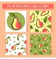 Seamless hand drawn pear patterns set vector image vector image