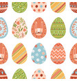 seamless pattern with different colorful easter vector image