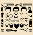 set dress up with men hipster haircuts vector image vector image