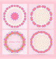 set of square cards set with colorful ethnic vector image vector image