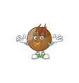 silent medlar fruits cartoon character for design vector image vector image