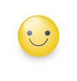 slightly cartoon smiling yellow face smiling fun vector image vector image