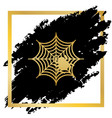 spider on web golden icon at vector image