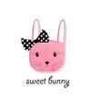 sweet bunny print design with slogan vector image vector image