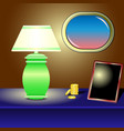 table lamp gold coin frame porthole vector image