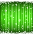 The green snowy background vector image vector image
