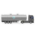 truck semi trailer 09 vector image vector image