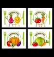 vegetables fresh food vector image vector image