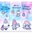 watercolor christmas set banners can be used as vector image