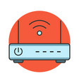 wireless router flat line icon vector image