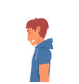 young man wearing t-shirt with hood and short vector image vector image