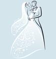 bride and bridegroom wedding couple vector image
