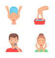 face massage foot bath shaving face washing vector image