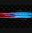 illuminated abstract digital neon lines of glowing vector image