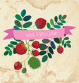Nice day cute card - vintage style vector image