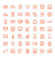 49 screen icons vector image vector image