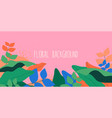 abstract trendy minimalistic floral background vector image