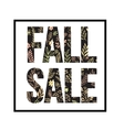 Autumn seasonal sale banner design Fal leaf vector image vector image