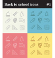 Back to school theme linear icons vector image vector image