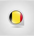 belgium flag map pointer design vector image