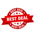 Best deal round ribbon isolated label best deal