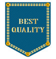 best quality denim patch vector image vector image