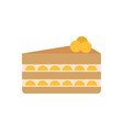 birthday cake slice poster vector image vector image
