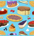 birthday celebration cream cake pie vector image vector image