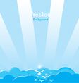 Blue Sky Background vector image