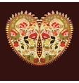 Boho heart Tribal style card vector image
