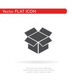 box hand icon for web business finance and vector image vector image