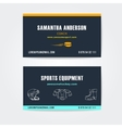 Business cards design for trainers and vector image vector image