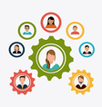 Business teamwork design vector image