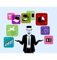 businessman style elements vector image