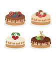 cakes collection different vector image