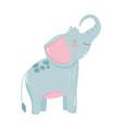 cute animals elephant cartoon isolated icon design vector image vector image